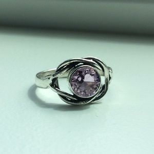 Jewelry - 💕Pink Garnet sterling silver ring💕